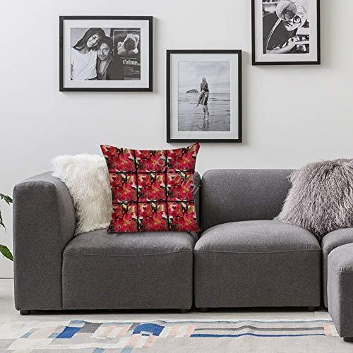 Promini VI-395 federa decorativa per cuscino damascato in cotone e lino per casa, divano, camera da letto, bar, caffetteria, Cotone lino, Colore: 09, 45 x 45 cm