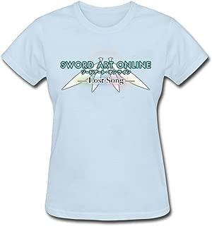 Tee Center Sword Art Online Lost Song T-Shirt Women Round Collar
