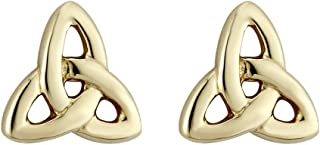 Trinity Knot Earrings Gold Plated Studs Made in Ireland
