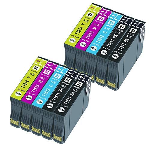Caidi Reemplazo de Cartucho de Tinta Compatible para 18XL for Expression Home XP-215 XP-225 XP-302 XP-305 XP-312 XP-315 XP-322 XP-405 XP-412 XP-422 XP-425 (10 Paquete)