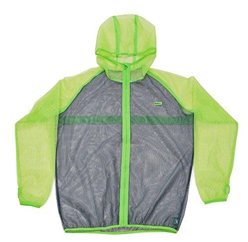 MOTHKEEHI/ 蚊の嫌がる忌避成分を使用した「着る蚊帳(かや)」防虫メッシュパーカー /肌に触れにくいゆったりシルエット (LightGreen, M)