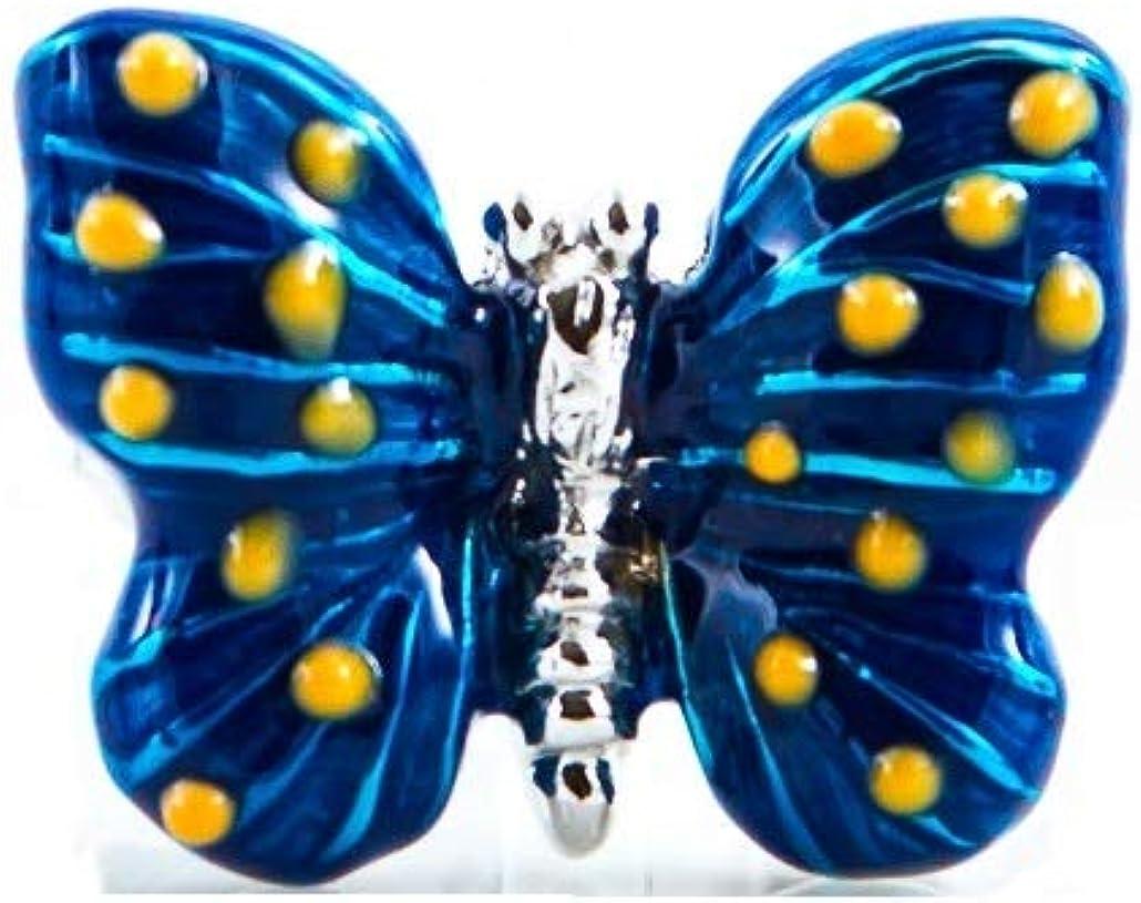 MRCUFF Butterfly Blue Pair Cufflinks in a Presentation Gift Box & Polishing Cloth