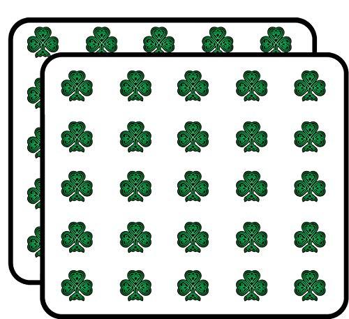Celtic Shamrock Green and Black Sticker for Scrapbooking, Calendars, Arts, Kids DIY Crafts, Album, Bullet Journals 50 Pack