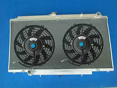 Aluminio Radiador + FANS Para Nissan Patrol GU Y61 3.0L ZD30CR & 2.8L TDI RD28 4.2L TD42 Turbo Diesel 1997-2013 MT Super Safari