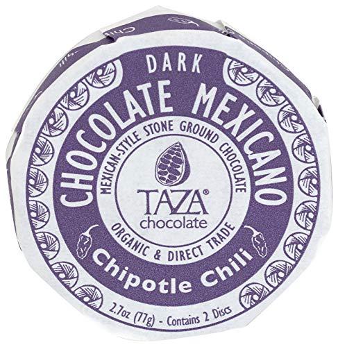 Taza Chocolate Organic Mexicano Disc 50% Dark Chocolate, Chipotle Chili, 2.7 Ounce (1 Count), Vegan