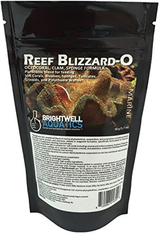 Brightwell Aquatics Reef BlizzardO Powdered Planktonic Food Blend for Octocorals & Bivalves, 50g by Brightwell Aquatics