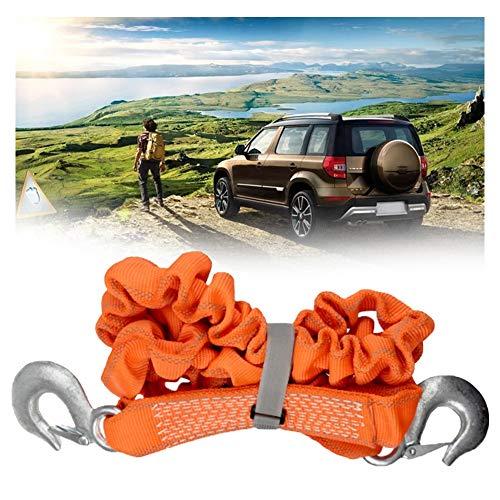 Abschleppseil 5 Tonnen Abschleppseil, elastisches Abschleppseil, 1,8 m dehnbar bis 4 m, Abschleppgurt für Auto/SUV/landwirtschaftliche Fahrzeuge, langlebig