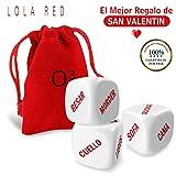 O³ Lola Red Dados Pareja Español - Set de 3   Incluyen E-Book En Español con Más Ideas - Entrega Desde España