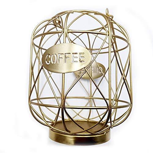 pwne Soporte para cápsulas de café, taza organizadora, gran capacidad de almacenamiento de café, soporte para carrusel, organizador de cápsulas de café, cesta de almacenamiento