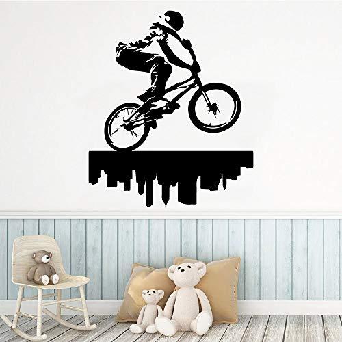 Rhpnyi Pegatinas de Pared de Vinilo de Jinete de Dibujos Animados decoración de habitación de niños Mural de decoración del hogar 57 cm x 68 cm