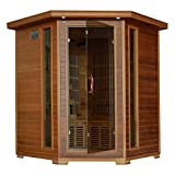 Radiant Saunas 4 Person Cedar Corner Infrared Sauna