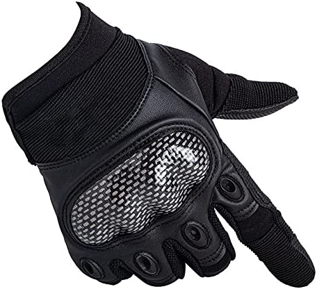YANYAN Carbon Fiber Touch-Screen Tactical Gloves Fingerless Men Forces Combat Military Training Wear-Resistant Non-Slip Gloves NR78 (Color : Ivory-32CM-32CM, Gloves Size : XL)