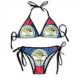 Flag of Belize Patterned Printed Female...