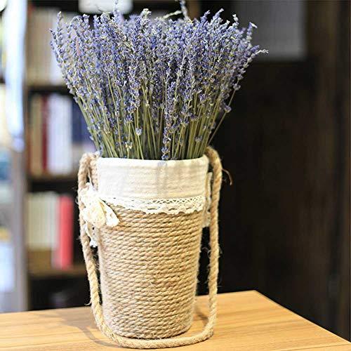 Ramo de lavanda natural Juman, flores secas, forma única, hecho a mano, fácil de transportar, sin decoloración, 40 cm, 20 g por ramo, para familias, bodas, fiestas, hoteles
