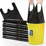 HIOD Bolsas de Basura Portátiles 200 Piezas Bolsa de Basura para Coche Familiar de Cocina Bolsa de Almacenamiento de Residuos, Negro, 50x32cm