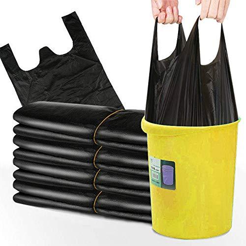 Bolsas de Basura Portátiles 200 Piezas Bolsa de Basura para Coche Familiar de Cocina Bolsa de Almacenamiento de Residuos, Negro, 50x32cm