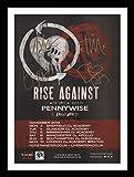 Rise Against Autogramme Signiert Und Gerahmt Foto