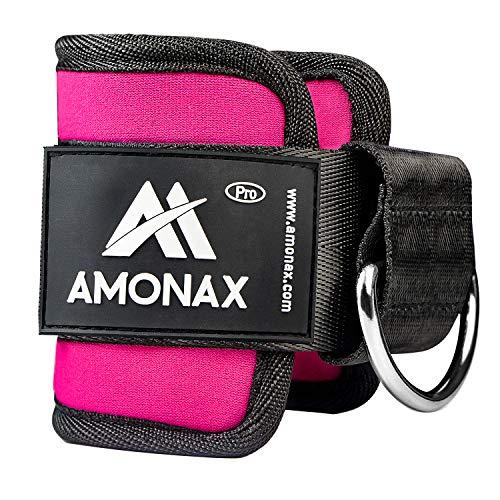 Amonax tobillera para polea (acolchado) para piernas y tobillos, correas tobillos gym cable maquinas, gimnasio, fitness - mujeres y hombres