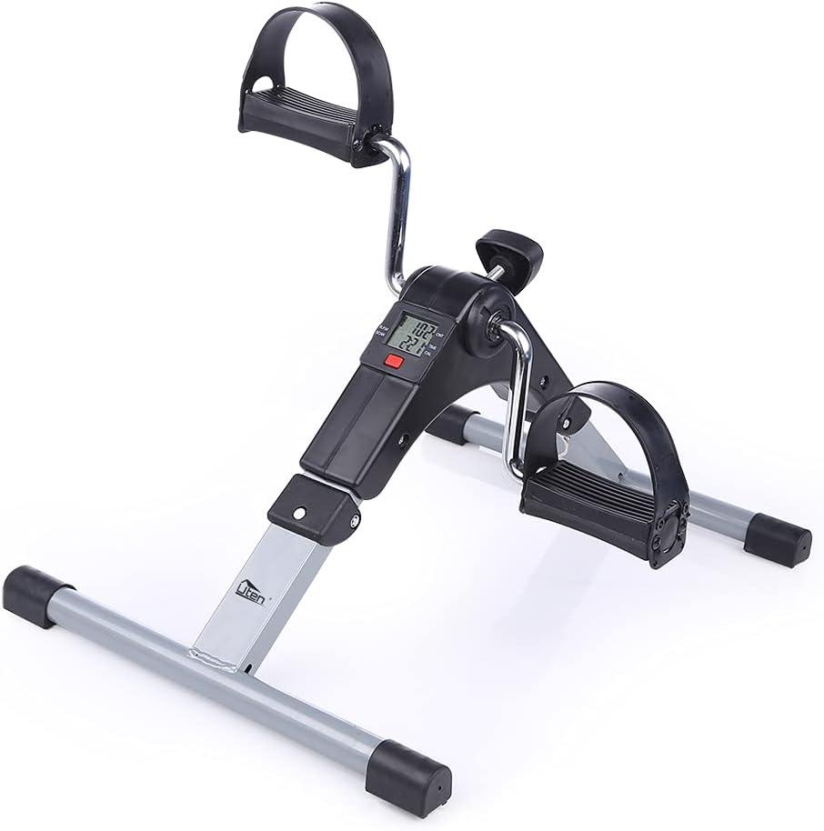 Uten mini equipo de ejercicio de brazos y piernas de bicicleta estática plegable portátil, adecuado para rehabilitación deportiva y personas de mediana edad y ancianos