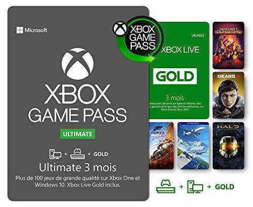 Abonnement Xbox Game Pass Ultimate   3 Mois   Xbox Live Gold est inclus dans l'abonnement 3 Mois   Xbox & Win 10 PC - Code jeu à télécharger
