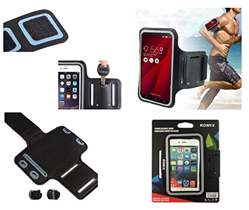 DFVmobile - Professional Cover Neoprene Waterproof Armband Wraparound Sport with Buckle for Huawei Ascend G730-U10 - Black
