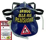 Bombo Casco Porta lattine per Festeggiare la Pensione
