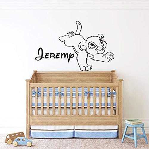 Calcomanías de pared de anime dibujos animados Simba personalidad vinilo pegatinas de pared jardín de infantes dormitorio de los niños habitación de bebé decoración del hogar