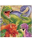 BIGIEMME Tovaglioli per Feste di Compleanno o Feste a Tema. Dinosauri, 33 x 33 cm