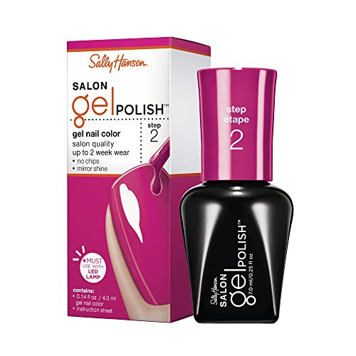 sally hansen gel nail kits Sally Hansen Salon Pro Gel Nail Polish Lacquer, Back to the Fuchsia, 0.24 Fl. Oz.