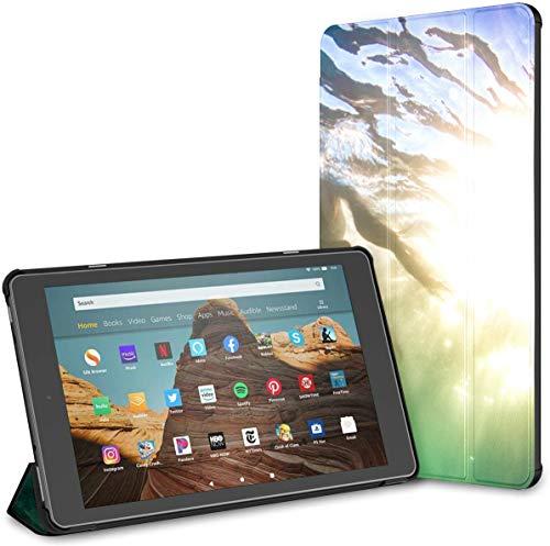 Estuche para Tableta Horse Runs Gallop On The Meadow Fire HD 10 (9.a / 7.a generación, versión 2019/2017) Estuche HD Fire 10 Estuche Cute Fire HD 10 Auto Wake/Sleep para Tableta de 10.1 PU