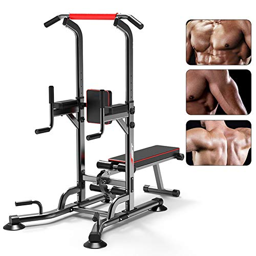 Photo of CRYPIN Power Tower Pull Up Station with Bench,Dip Stands Pull Up Bars Push Up Bars Strength Training