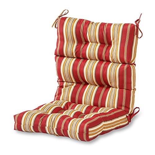 Greendale Home Fashions AZ4809-ROMASTRIPE Tuscan Stripe 44'' x 22'' Outdoor Seat/Back Chair Cushion,...