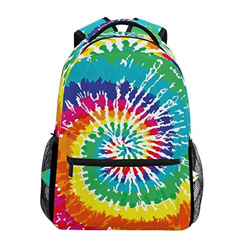 Wamika Rainbow Tie Dye Sac à Dos étanche pour l'école, Gym, Sac à Dos, Sac pour Ordinateur Portable, Sac de Voyage, pour Enfants, garçons, Filles, Hommes