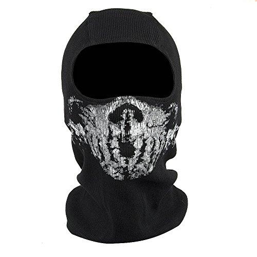 Fortag Unterschiedliche Sturmhaube Geister Schädel-Maske Gesichtshaube Balaclava Windmaske Skimaske Motorradmaske für Herren Damen Outdoor Sports Motorrad Ski Snowboard Ghost Skull Maske (Modell-6)