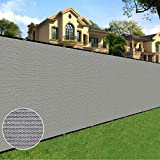 Sunnyglade 6 feet x 50 feet Privacy Screen Fence Heavy Duty Fencing Mesh Shade Net Cover for Wall Garden Yard Backyard (6 ft X 50 ft, Grey)