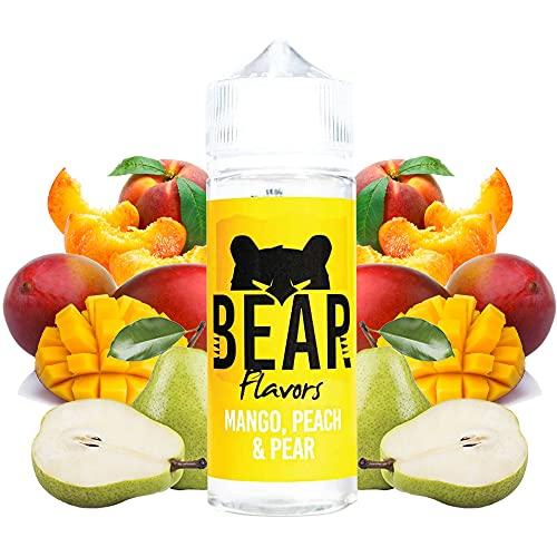 BEAR Flavors - Mango Peach Pear | 100ML | Sin Nicotina: 0mg | 70VG/30PG | E-Liquido para Cigarrillos Electronicos | Vaper | E Cigarette | E Shisha