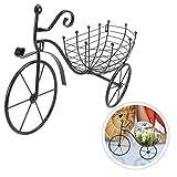 YARNOW 1 Pieza Forma de Bicicleta Soporte de Planta Bicicleta Maceta Soporte de Hierro Canasta de Flores Bicicleta Maceta para Decoración del Jardín del Hogar (Negro)