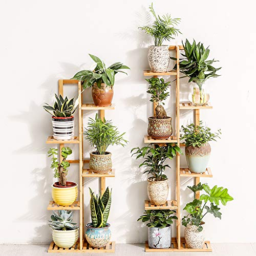 Bamboo 5 Tier 6 Potted Plant Stand Rack Buy Online In Bosnia And Herzegovina At Desertcart