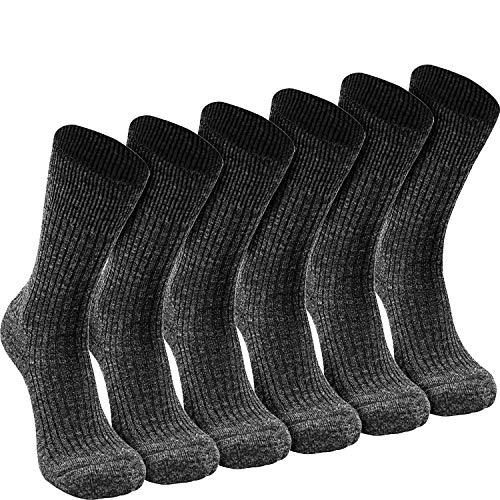 Nordhorn 6 paar Arbeitssocken Herren - Robuste Wolle + Thermoacryl Berufssocken - Atmungsaktive Freizeit Socken (44-46, Graphit 06)