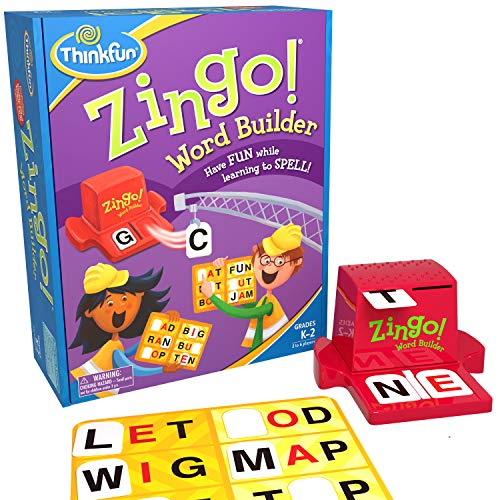 ThinkFun Zingo Word Builder Early Reading Game - Award...