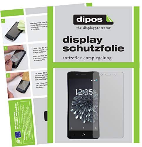 dipos I 6X Schutzfolie matt kompatibel mit BQ Aquaris X5 Plus Folie Bildschirmschutzfolie