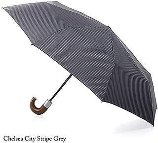フルトン FULTON かさ 傘 チェルシー 正規品証明タグ 英国王室御用達 紳士 長傘 ストライプ 自動開閉 G818 AC(ストライプグレー City Stripe Grey)