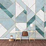 SIGNFORD Wall Mural Abstract Geometric Pattern Removable Wallpaper Wall Sticker for Bedroom Living Room - 100x144 inches