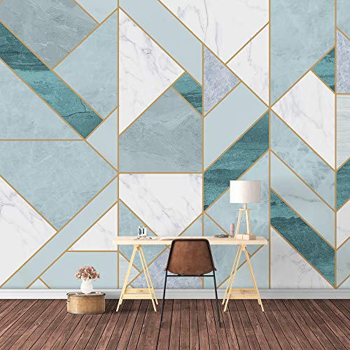 SIGNFORD Wall Mural Abstract Geometric Pattern Removable Wallpaper Wall Sticker for Bedroom Living Room - 66x96 inches
