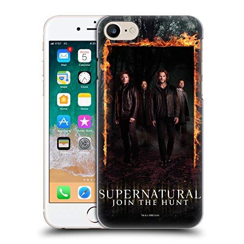 Offizielle Supernatural Sam, Dean, Castiel und Crowley Schluessel Kunst Harte Rueckseiten Handyhülle Hülle Huelle kompatibel mit Apple iPhone 7 / iPhone 8 / iPhone SE 2020