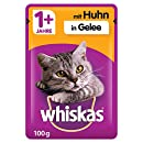 Whiskas 1 + Katzenfutter , Huhn in Gelee, 24 x 100g