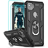 Leyi Google Pixel 4A Case with 2-Pieces Tempered Glass Screen Protector