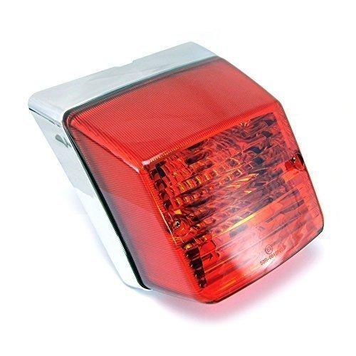 Alta Qualità Luce Posteriore, Design Retrò, per Vespa Px 125/150/200 , Cromo