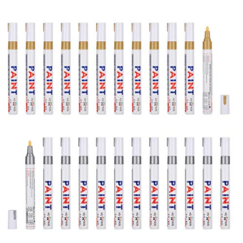 Paint Markers,24Pcs Paint Markers Set Oil‑Based Waterproof Marking Tire Check‑In Repair Pen Painting Tools