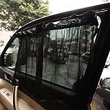 1 Par/Set Anti-UV Sun Shade Cortina de la Ventana Lateral Trasera del Coche Malla de Algodón Cortinas de Protección Solar con Ventosas